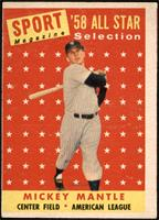 Sport Magazine '58 All Star Selection - Mickey Mantle [FAIR]