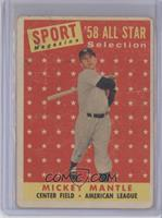 Sport Magazine '58 All Star Selection - Mickey Mantle [Poor to Fair]