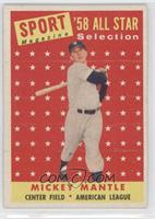 Sport Magazine '58 All Star Selection - Mickey Mantle