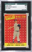 Sport Magazine '58 All Star Selection - Mickey Mantle [SGC40VG…