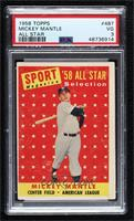 Sport Magazine '58 All Star Selection - Mickey Mantle [PSA3VG]