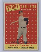Sport Magazine '58 All Star Selection - Mickey Mantle [VeryGood‑Exc…