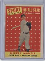 Sport Magazine '58 All Star Selection - Mickey Mantle [Good to VGR…