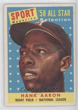 1958 Topps - [Base] #488 - Hank Aaron