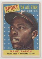 Sport Magazine '58 All Star Selection - Hank Aaron [NoneGoodto…