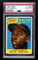 Sport Magazine '58 All Star Selection - Hank Aaron [PSA8NM‑MT]