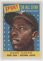 Sport Magazine '58 All Star Selection - Hank Aaron [Good to VG‑…