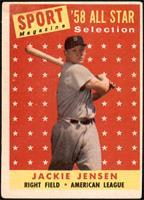Sport Magazine '58 All Star Selection - Jackie Jensen [VG]