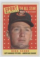 Sport Magazine '58 All Star Selection - Herb Score