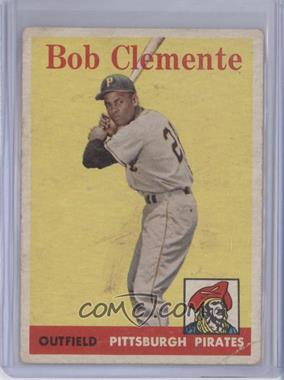 1958 Topps - [Base] #52.1 - Roberto Clemente (White Team Name) [Good to VG‑EX]