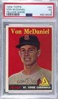 Von McDaniel (Player Name in Yellow) [PSA3VG]