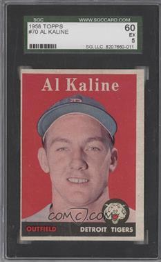 1958 Topps - [Base] #70.1 - Al Kaline (player name in white) [SGC60]
