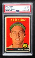 Al Kaline (player name in yellow) [PSA 4 VG‑EX]