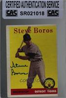 Steve Boros (team name in white) [CASCertifiedSealed]