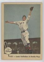 1951- Leads Outfielders In Double Plays (Ted Williams)