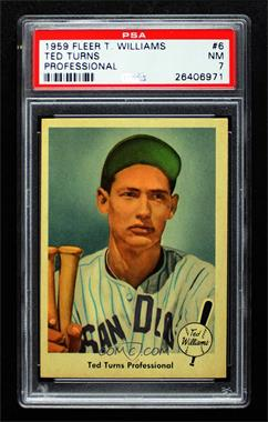 1959 Fleer Ted Williams - [Base] #6 - Ted Turns Professional [PSA7NM]