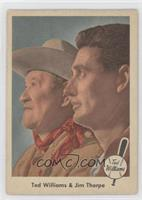 Ted Williams and Jim Thorpe [Good to VG‑EX]
