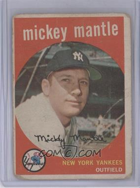 1959 Topps - [Base] #10 - Mickey Mantle [Poor to Fair]