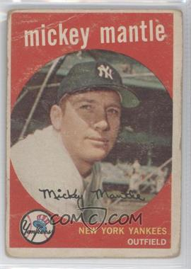 1959 Topps - [Base] #10 - Mickey Mantle