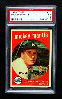 1959 Topps - [Base] #10 - Mickey Mantle [PSA 5 EX]