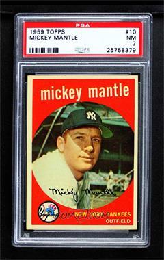 1959 Topps - [Base] #10 - Mickey Mantle [PSA7NM]