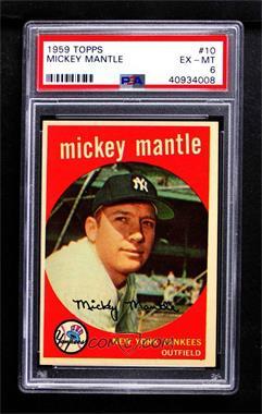 1959 Topps - [Base] #10 - Mickey Mantle [PSA6EX‑MT]