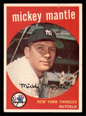 1959 Topps - [Base] #10 - Mickey Mantle [EX]