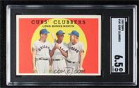 Cubs' Clubbers (Dale Long, Ernie Banks, Walt Moryn) [SGC82EX/MT+&nb…