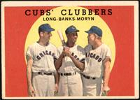 Cubs' Clubbers (Dale Long, Ernie Banks, Walt Moryn) [VG]