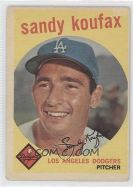 1959 Topps - [Base] #163 - Sandy Koufax [Good to VG‑EX]