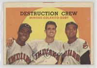 Destruction Crew (Minnie Minoso, Rocky Colavito, Larry Doby) (Spelled Colovito …