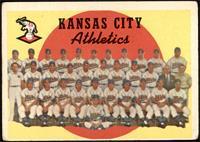 Kansas City Athletics Team (3rd Series Checklist 177-242) [GOOD]
