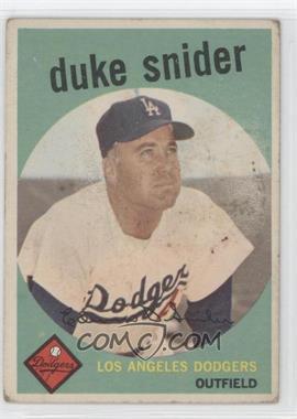 1959 Topps - [Base] #20 - Duke Snider [GoodtoVG‑EX]
