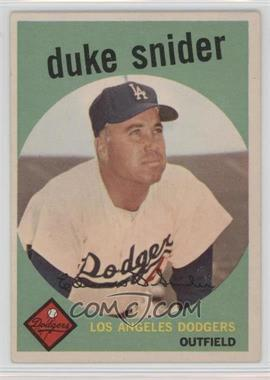 1959 Topps - [Base] #20 - Duke Snider