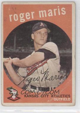 1959 Topps - [Base] #202.1 - Roger Maris (grey back) [GoodtoVG‑EX]