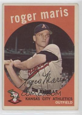 1959 Topps - [Base] #202.2 - Roger Maris (white back) [GoodtoVG‑EX]