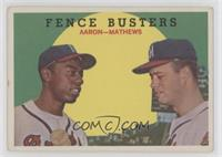 Fence Busters (Hank Aaron, Eddie Mathews) (White Back) [Good to VG&#8…