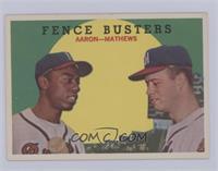 Fence Busters (Hank Aaron, Eddie Mathews) (White Back) [NearMint‑Mi…