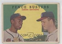 Fence Busters (Hank Aaron, Eddie Mathews) (White Back) [GoodtoVG…