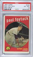 Paul Foytack (grey back) [PSA 6]