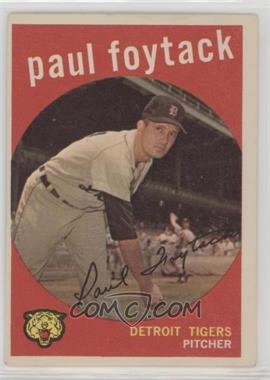 1959 Topps - [Base] #233.2 - Paul Foytack (white back)
