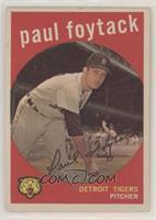 Paul Foytack (white back)