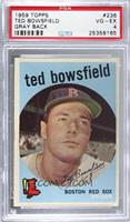 Ted Bowsfield (grey back) [PSA4VG‑EX]