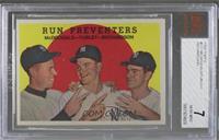 Run Preventers (Gil McDougald, Bob Turley, Bobby Richardson) (white back) [BVG&…