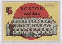 Boston Red Sox Team (3rd Series Checklist) (white back) [Good to VG&#…