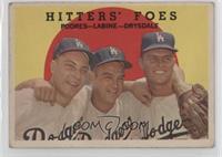 Hitters' Foes (Johnny Podres, Clem Labine, Don Drysdale) (white back) [Good&nbs…