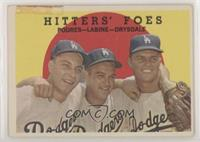 Hitters' Foes (Johnny Podres, Clem Labine, Don Drysdale) (white back) [Poor&nbs…