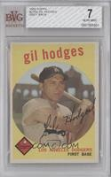 Gil Hodges (gray back) [BVG 7 NEAR MINT]