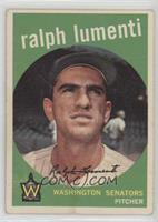 Ralph Lumenti, (Optioned to Chattanooga in March 1959, Photo is Camilo Pascual)…