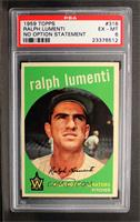 Ralph Lumenti (No Optioned Statement, Photo is Camilo Pascual) [PSA 6 …